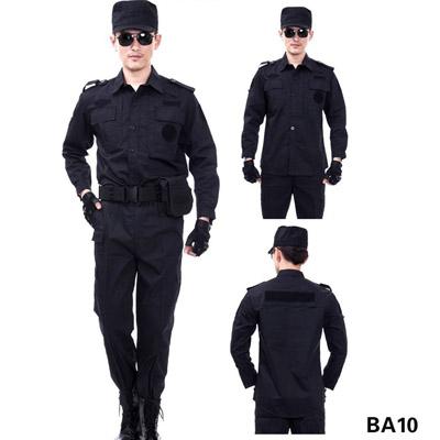 夏装长袖保安服制服特训服