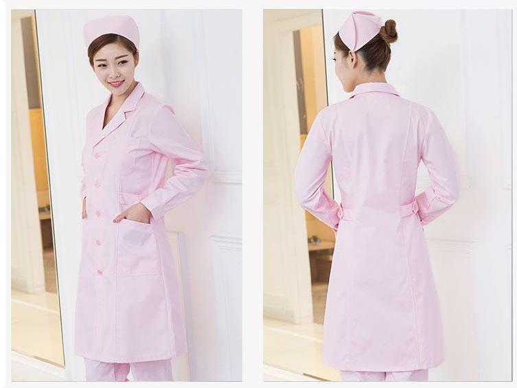 粉色护士服制服美容师护士服