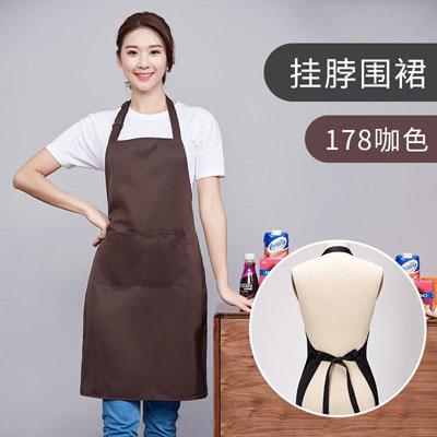广告围裙定制咖啡色围裙印字