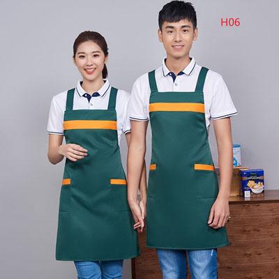 广告围裙定制06款深绿色围裙印字