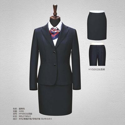 50毛料西服定制女士西装订做藏青色HY5002