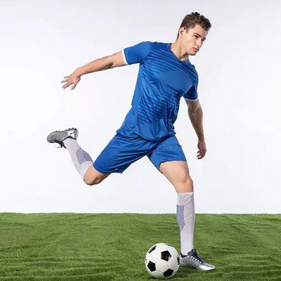 蓝色足球服球星同款球衣定制印字