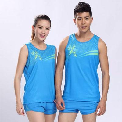 田径运动服各种竞赛跑步服可印字印号