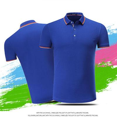 宝蓝色T恤POLO衫商务团队工作服T恤