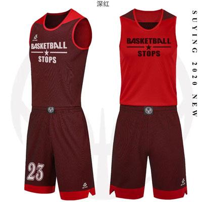 正反两穿的篮球服打篮球衣服款式图片
