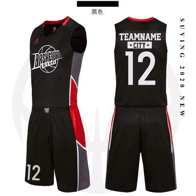 新款篮球服印号码图球服定制