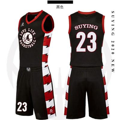新款篮球服打篮球衣服印字号码图