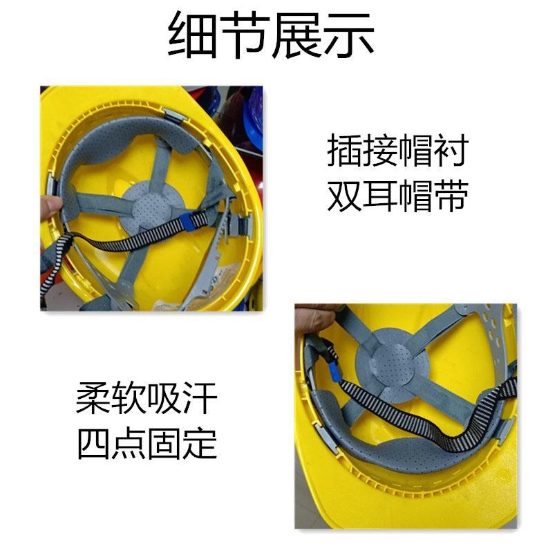 安全帽蓝色ABS材质V型顶透气款式图2