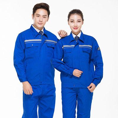 防静电工作服蓝色汽修加油站工服