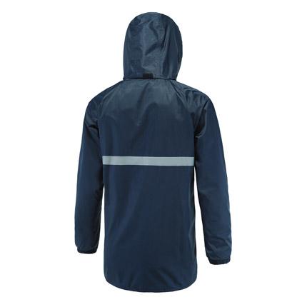 反光雨衣模特正面和背后合图