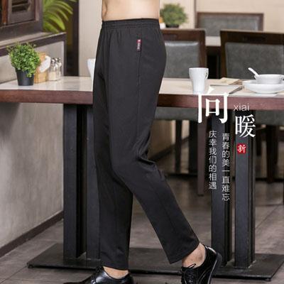 工装裤松紧裤黑色宽松工作裤