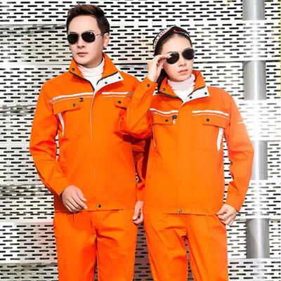 橘色劳保工作服安全反光服定制