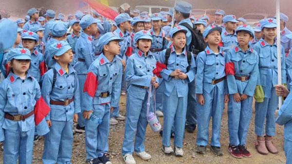 七一建党衣服红军八路军演唱服装款式图9