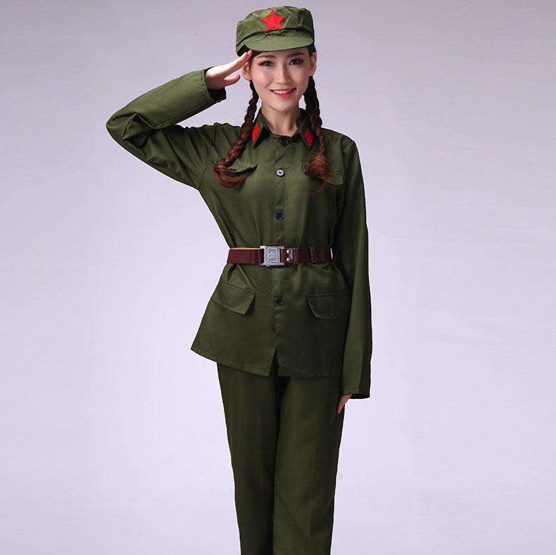 七一建党衣服红军八路军演唱服装款式图5
