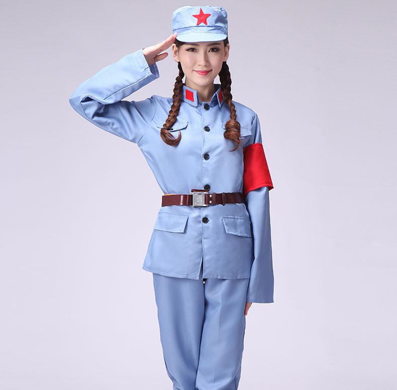 七一建党衣服红军八路军演唱服装款式图3