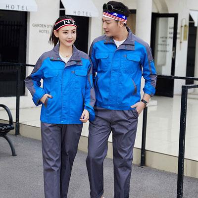 蓝色工作服男装图片夹克女装工服