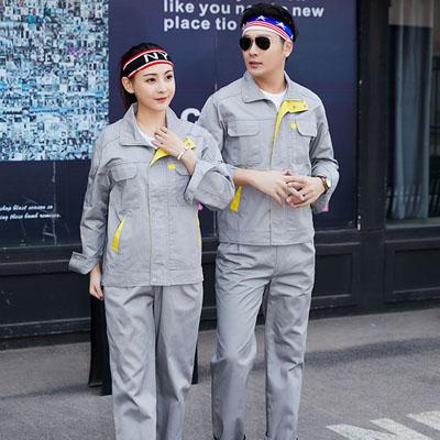 灰色劳保工作服款式图片男女装同款