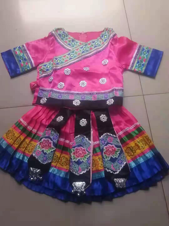 三月三少数民族服装小孩学生表演衣服款式图6