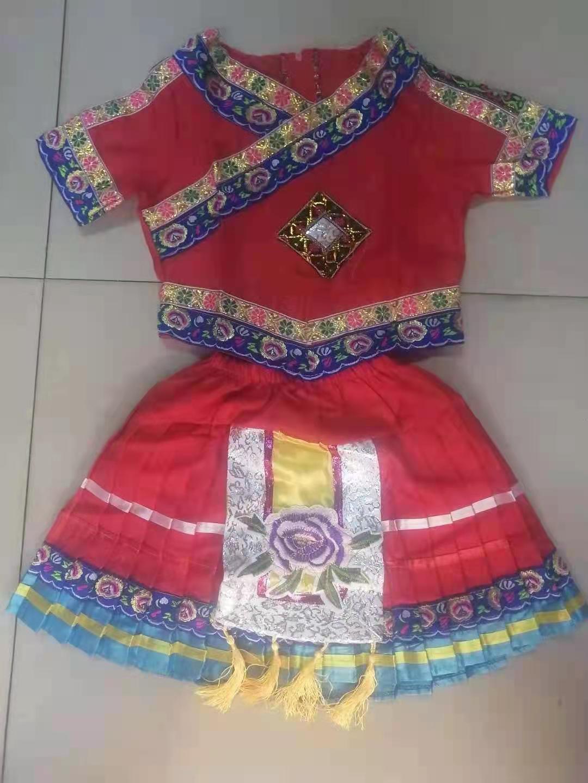 三月三少数民族服装小孩学生表演衣服款式图7