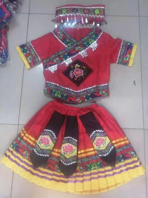 三月三少数民族服装小孩学生表演衣服款式图8