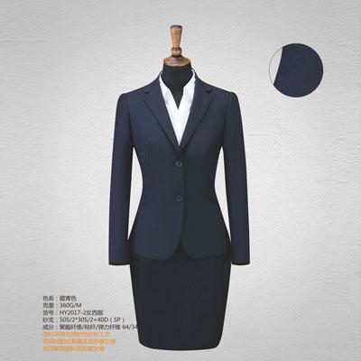 西服定制高端西装订做女套装单西双扣斜袋HY2017-2