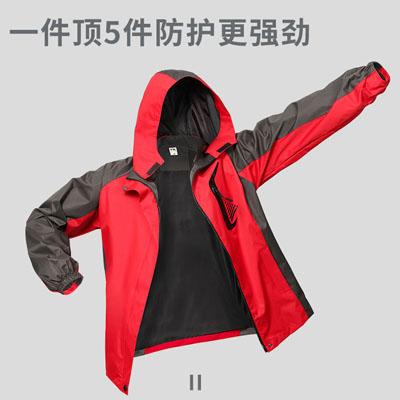 单层冲锋衣款式图印广告字冲锋衣工作服