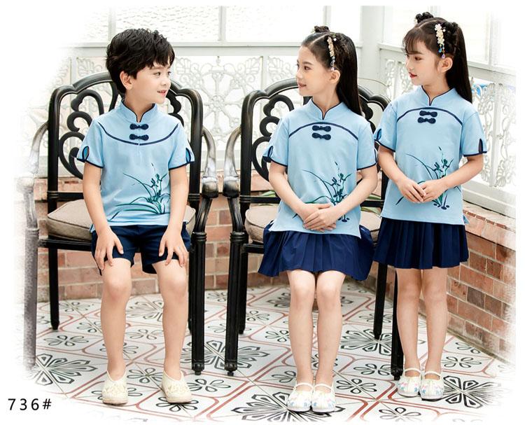幼儿园小朋友表演衣服五四运动会服装款式图5