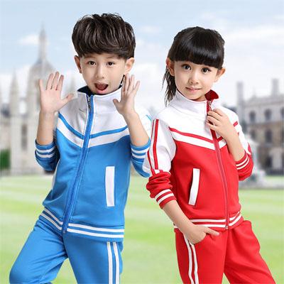 小学生秋校服班服两件套装定制