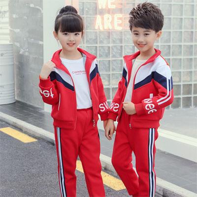 新款儿童小学生校服运动服秋冬装