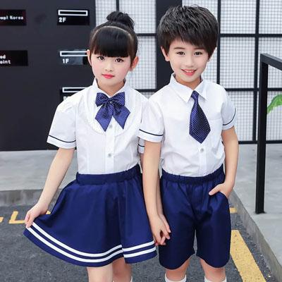 小学生校服夏装衬衫套装园服定制