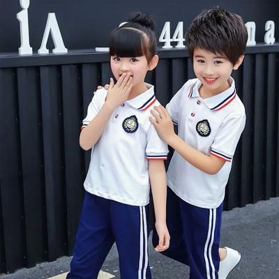 小学生校服幼儿园T恤夏套装长裤
