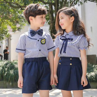 学生校服套装园服夏装衬衫两件套