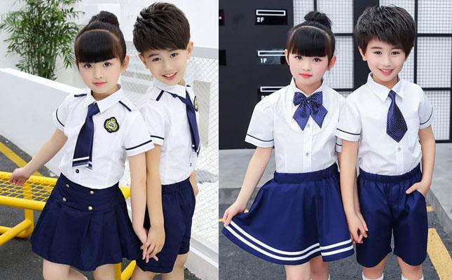 校服衬衫2件套装图