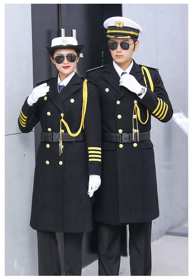 形象岗礼宾服保安呢子大衣加厚款式图4