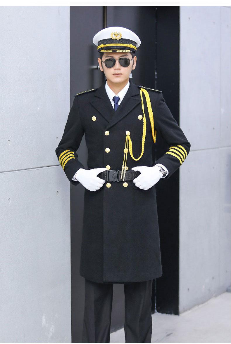 形象岗礼宾服保安呢子大衣加厚款式图7