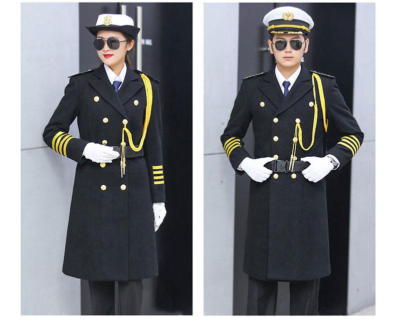 形象岗礼宾服保安呢子大衣加厚款式图5