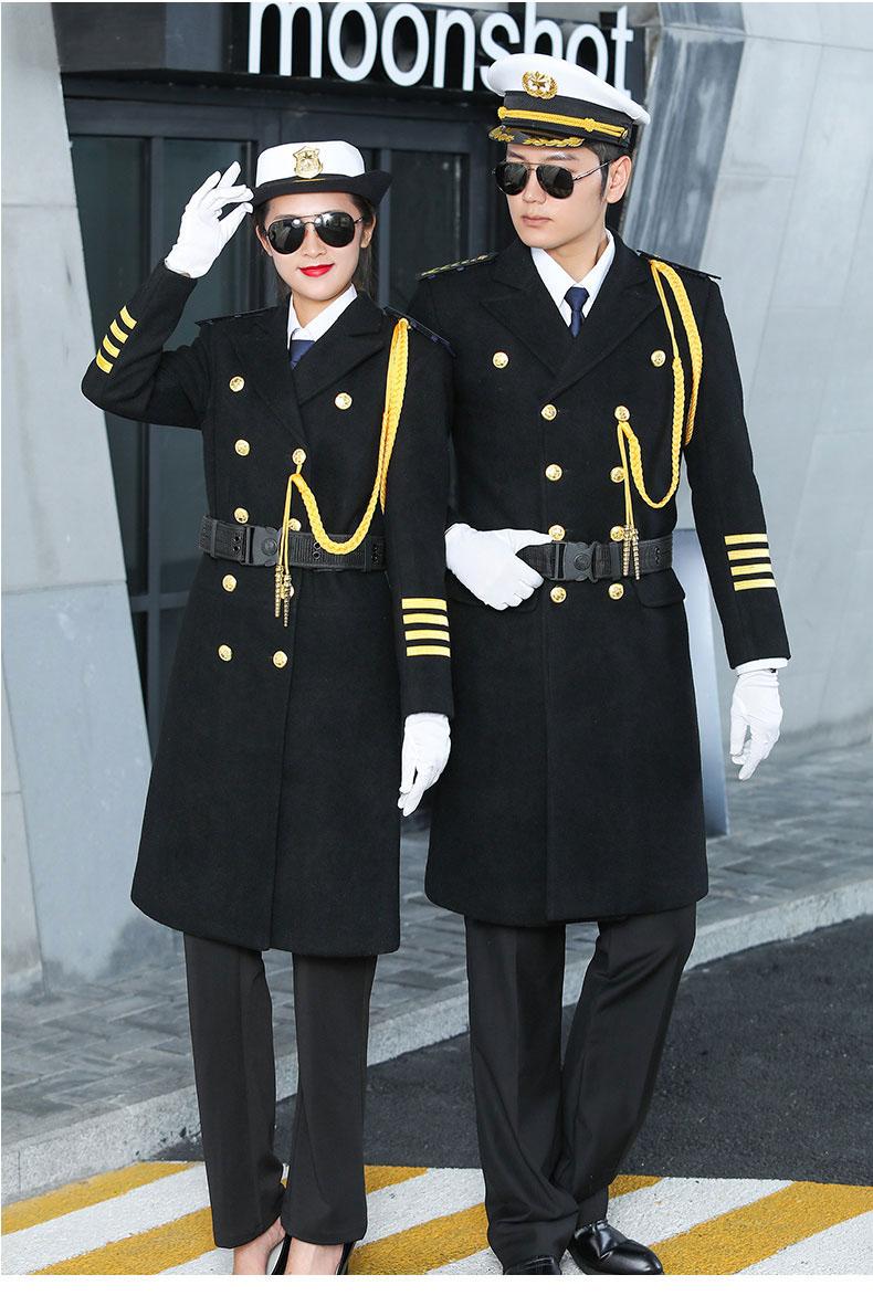形象岗礼宾服保安呢子大衣加厚款式图2