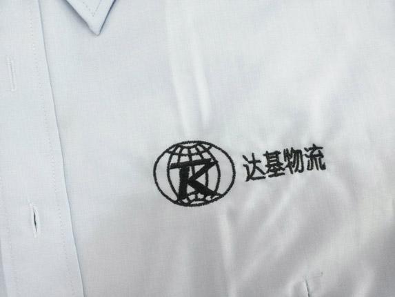 工作服logo绣字图片