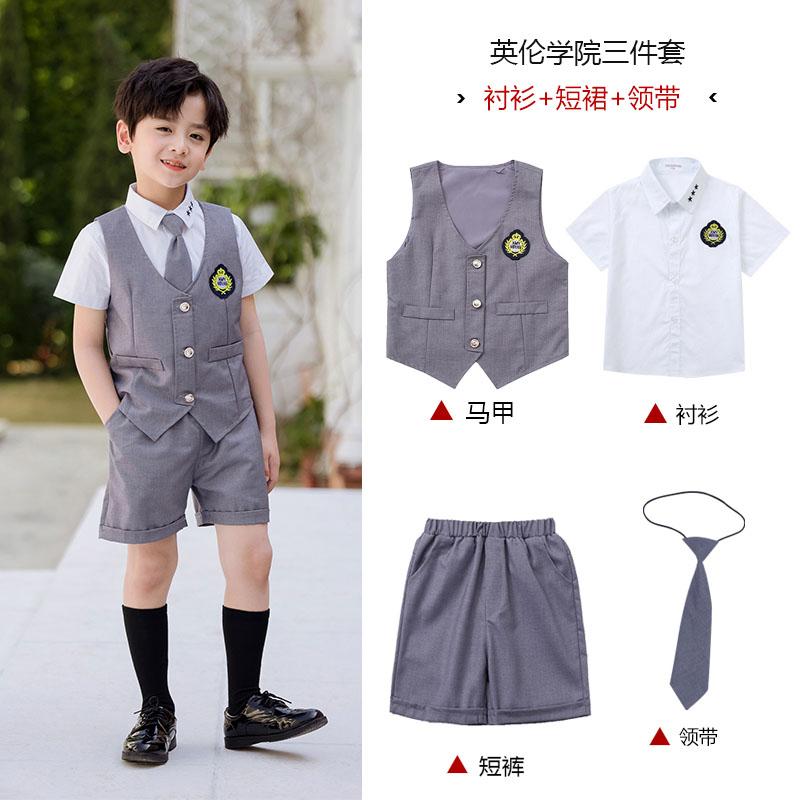 英伦风格校服西装衬衫套装图片款式图2