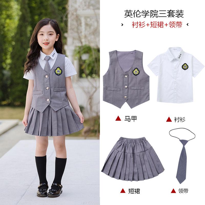 英伦风格校服西装衬衫套装图片款式图3
