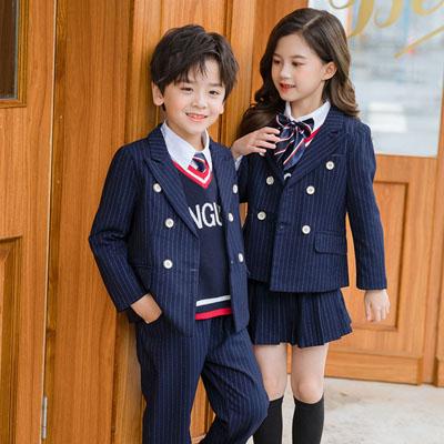 小学生西服四件套英伦风格班服